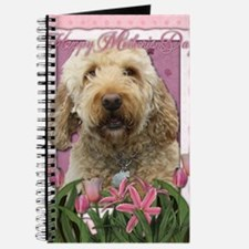 Mothers_Day_Pink_Tulips_Goldendoodle Journal
