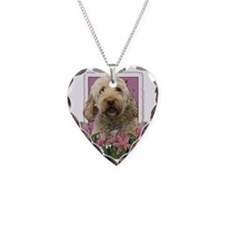 Pink_Tulips_Goldendoodle Necklace