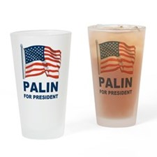 1 Palin for president Drinking Glass