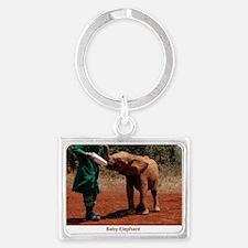 Baby Elephant Landscape Keychain