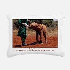Baby Elephant Rectangular Canvas Pillow