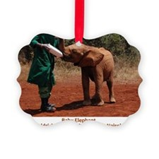 Baby Elephant Ornament