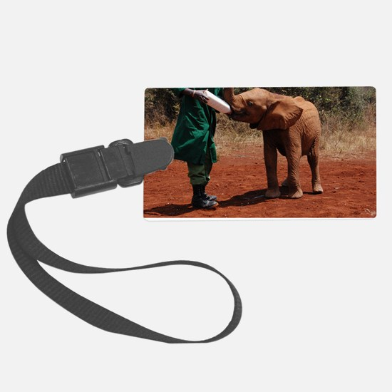 Baby Elephant Large Luggage Tag