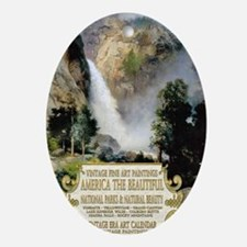 1 A COVER -AMERICA THE BEAUTIFUL 2 Oval Ornament