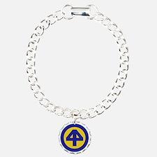 44th Infantry Division Charm Bracelet, One Charm