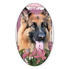 Mothers_Day_Pink_Tulips_German_Shep Decal