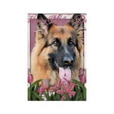 Mothers_Day_Pink_Tulips_German_Sh Rectangle Magnet