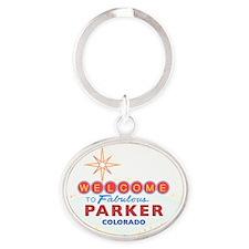 PARKER DARK Oval Keychain