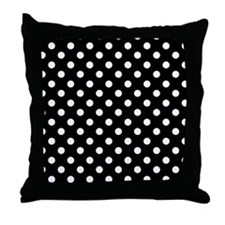 bw-polkadot Throw Pillow