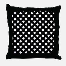 bw-polkadot Throw Pillow