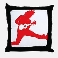 iUke Red Throw Pillow
