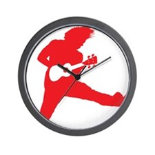 iUke Red Wall Clock