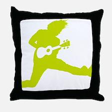 iUke Yellow-Green Throw Pillow