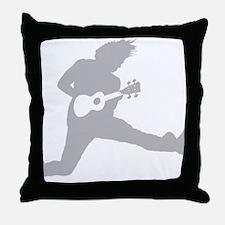 iUke Gray Throw Pillow