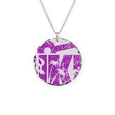 UKE Purple Necklace Circle Charm
