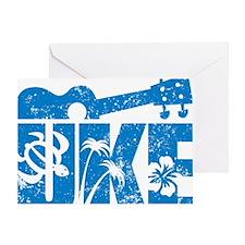 UKE Blue Greeting Card