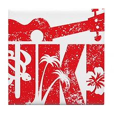 UKE Red Tile Coaster