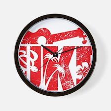UKE Red Wall Clock
