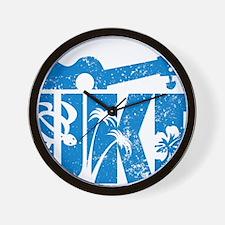 UKE Blue Wall Clock