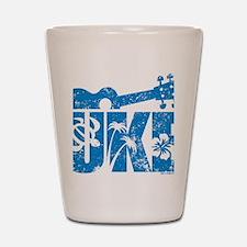 UKE Blue Shot Glass