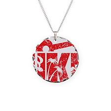 UKE Red Necklace Circle Charm