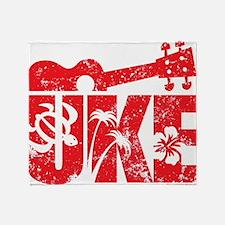 UKE Red Throw Blanket