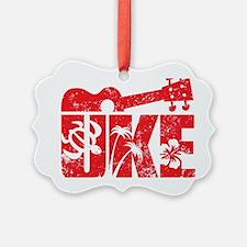 UKE Red Ornament