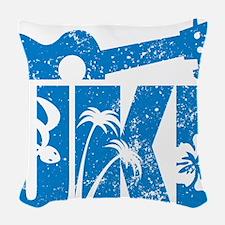 UKE Blue Woven Throw Pillow