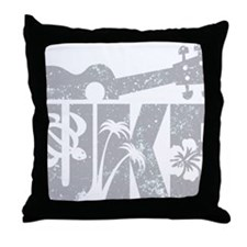 UKE Gray Throw Pillow