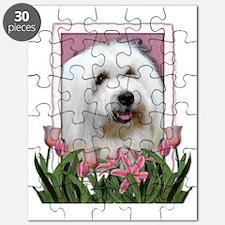 Pink_Tulips_Coton_de_Tulear Puzzle
