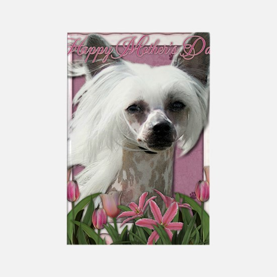 Mothers_Day_Pink_Tulips_Chinese_C Rectangle Magnet