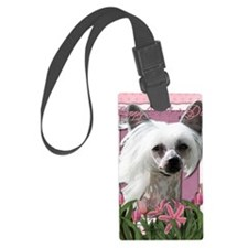 Mothers_Day_Pink_Tulips_Chinese_ Luggage Tag
