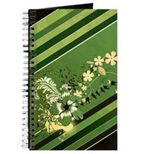 Green Stripe Floral (4G slider) Journal