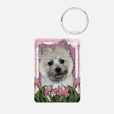 Mothers_Day_Pink_Tulips_Ca Keychains