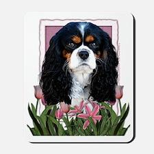 Pink_Tulips_Cavalier_Dark Mousepad
