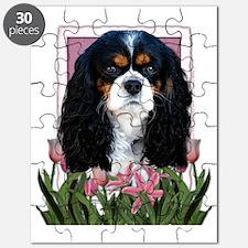 Pink_Tulips_Cavalier_Dark Puzzle