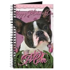 Mothers_Day_Pink_Tulips_Boston_Terrier_Mom Journal