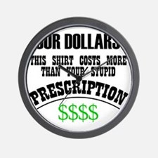 Four Dollars - More than your Prescript Wall Clock
