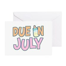 Due In July Girl Greeting Cards (Pk of 10)