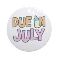 Due In July Girl Ornament (Round)