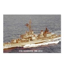 basilone dd sticker Postcards (Package of 8)