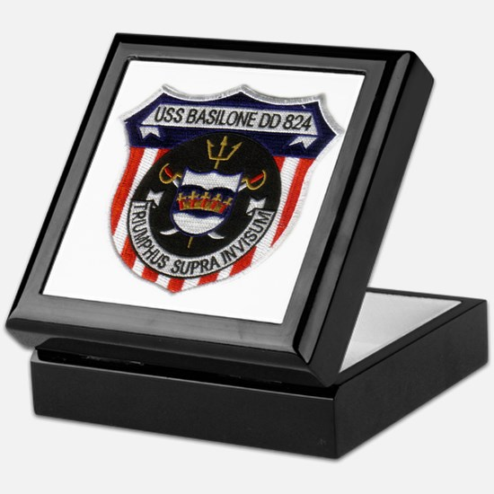 basilone dd patch Keepsake Box