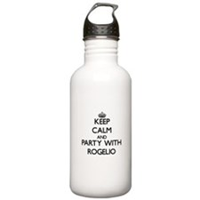 Keep Calm and Party with Rogelio Water Bottle