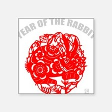 "rabbit48dark Square Sticker 3"" x 3"""