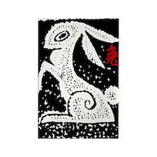 rabbit47light Rectangle Magnet