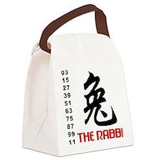 rabbit42light Canvas Lunch Bag