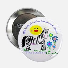 Zebra Stripes Button