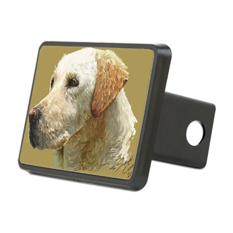 yellow lab_lg print Rectangular Hitch Cover