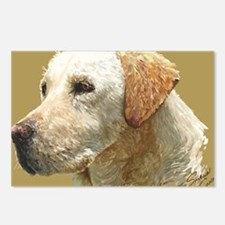 yellow lab_lg print Postcards (Package of 8)