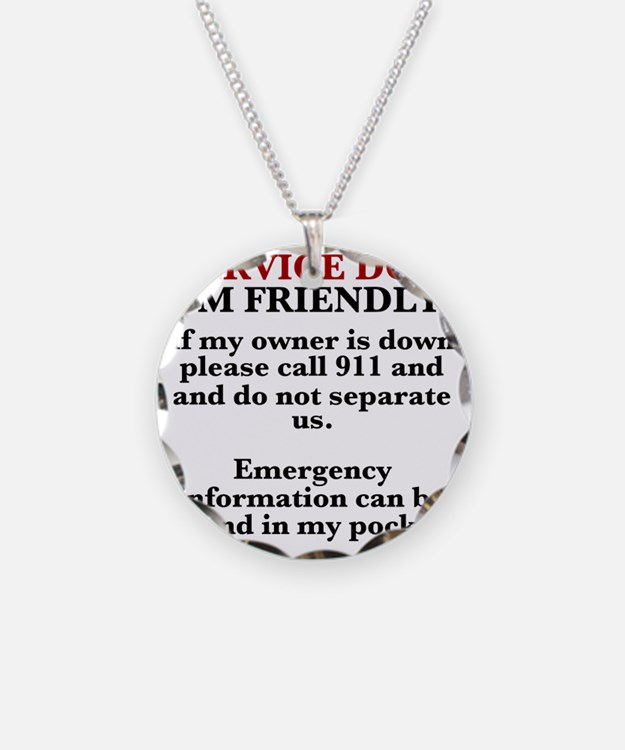 Dog T-shirt: Call 911/Check  Necklace